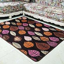 YPYSYL Korallensamt einfachen Teppich Deco-mat