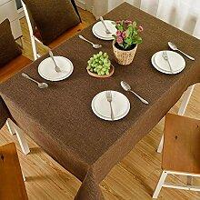 YQ QY Tischdecke Tischdecke Rechteck Baumwolle
