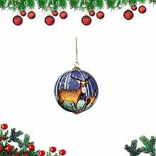 YQ Weihnachtskugeln für Weihnachtsbaum, DIY