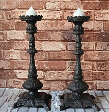YQ WHJB Antik Gußeisen Kerzenhalter,Europäische