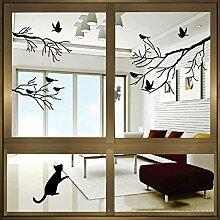 YQ WHJB Vogel Silhouetten Fensteraufkleber,Vinyl