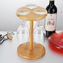 YQQ Weinglashalter Bambus Auf Den Kopf Stellen