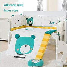 YQZ Bettumrandung Kinderbett, 8-teiliges Set aus