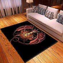 YQZS Einfacher Teppich des Wohnzimmer-3d gedruckte