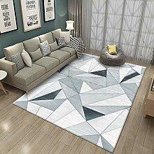 YQZS Moderner Design Kurzflor Teppich Blaugraue