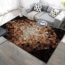 YQZS Moderner Teppich Wohnzimmer Teppich Sepia