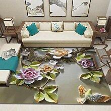 YQZS Wohnzimmer Teppich Kurzflor Teppich 3D Baum