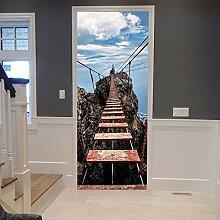 YQZYMT™ 3D Türaufkleber Tür Wandbild Innentür