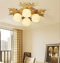 YRE Massivholz LED-Decke Licht/Lampe für
