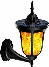 YRL Solar-Außenlicht, Solarflamen-Wandlampe