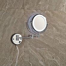 YROAR Bath Mirrors Messing Chrom Bad Led