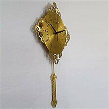 YROAR CLOCKS Chinesische Knoten Wanduhr, Gelb