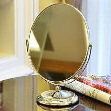 YROAR Tragbare HD ovaler Spiegel Tisch Spiegel