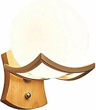 YROZ LED Wandleuchte Holzlampe Innen, Weiß