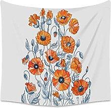 yrxh Blumen-Tapisserie-Wand hängen Home