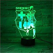 YS753 Fußball Team Messi Abbildung USB 3D Led