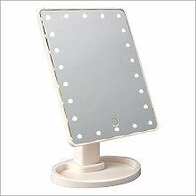 Ysayc Beleuchtete LED Tischplatte Schminkspiegel