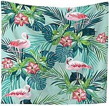 Ysayc Regenwald Flamingo Tapisserie Tier Pflanze