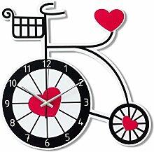 Ysayc Wanduhr Fahrrad Kinderzimmer Mute Art Wanduhr