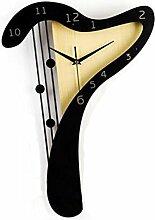 Ysayc Wanduhr Holz Handwerk Harp Wanduhr Kreativ Haus Dekoration Wanduhr