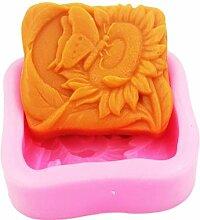YSCEN Silikonformen Schmetterling auf Sonnenblume,