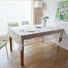 Yschen Weiß Bestickte Tischtuch Polyester