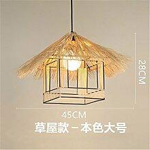 Ysddian Japanese-Style Wood Art minimalistischen modernen, kreativen Gravur Led Dekoration kreative Schlafzimmer Studie / 23 X 31 cm Leuchter Restaurant Cafe