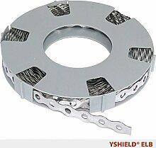 YSHIELD® Edelstahl-Lochband ELB | Breite 1,4 cm | 10 Laufmeter