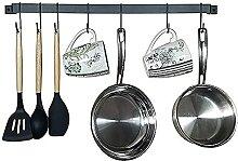 Ysislybin Küche Hakenleiste Schwarz für