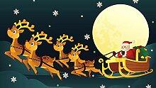 YSJHPC Fototapete Dekor Elch Santa unter