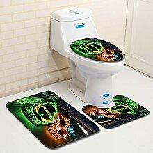 YSMTDDS Badezimmermatte Auto-Badezimmer-Toilette