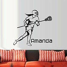 YSQARS Personalisierte Name Lacrosse Helm Player