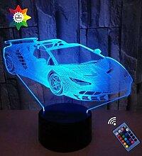 YTDZLTD Optische Täuschung 3D Sport Auto