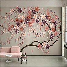 Ytdzsw 3D Baum Blume Wandbild Fototapete Große