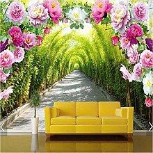 Ytdzsw 3D Flower Tür Tapete Wandbild für
