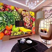 Ytdzsw 3D Früchte Wandbild 3D Wandbild Tapete