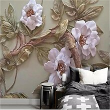 Ytdzsw 3D Geprägte Blume Baum Fototapete Tapeten