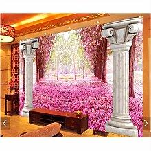 Ytdzsw 3D Kirschblüte Tapete Wandbilder für