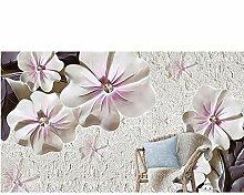 Ytdzsw 3D Tapete Tapete Geprägte Blumen