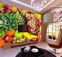 Ytdzsw 8D / 5D Obst Wandbild 3D Wandbild Tapete