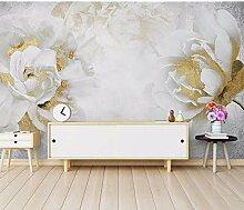 Ytdzsw 8D Goldene Rose Blume Tapete Wandbilder