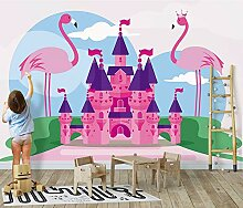Ytdzsw 8D Schloss Rosa Flamingo Vogel 3D Cartoon
