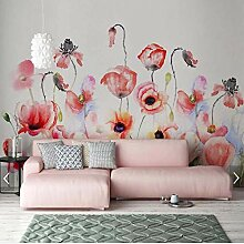Ytdzsw Aquarell Blume Flamingo Tapete Wandbild