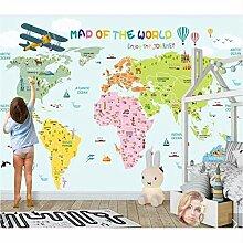 Ytdzsw Bunte Weltkarte Kinder Schlafzimmer