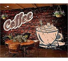Ytdzsw Cafe Tapete Wandbild Persönlichkeit