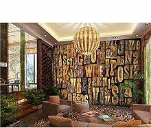 Ytdzsw Englisch Alphabete 3D Wandbilder 3D Holz