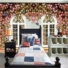 Ytdzsw Floral Fenster Tapete Wandbild Für