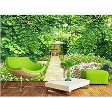 Ytdzsw Fototapete 3D Grüne Rebe Garten Tapete
