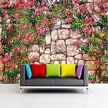 Ytdzsw Fototapete Schöne Steinwand Blume Wandbild