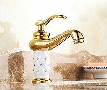 Ytdzsw Gold Finish Waschbecken Wasserhahn